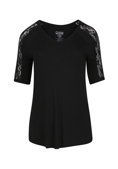 Ladies' Lace Insert Tee