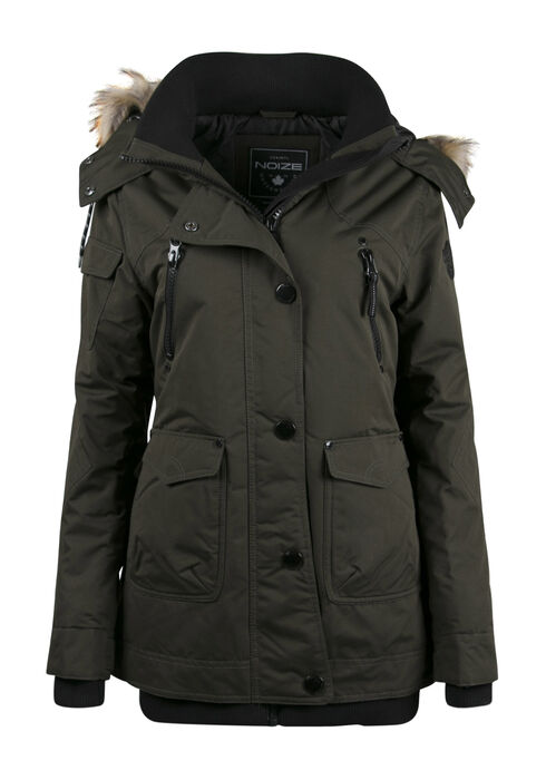 Ladies' Utility Parka, FOREST GREEN, hi-res