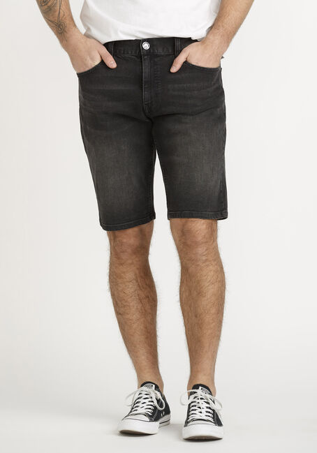Men's Black Denim Short