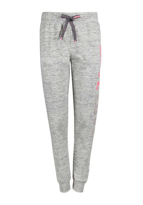 Ladies' Love Patch Jogger, GREY/HOTPINK, hi-res
