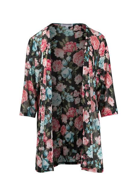 Ladies' Mesh Floral Kimono