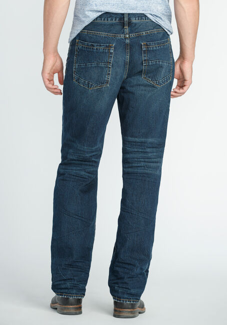 Men's Relaxed Straight Dark Indigo Jeans, DARK VINTAGE WASH, hi-res