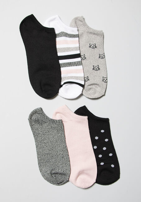Women's 6 Pair Cats Socks