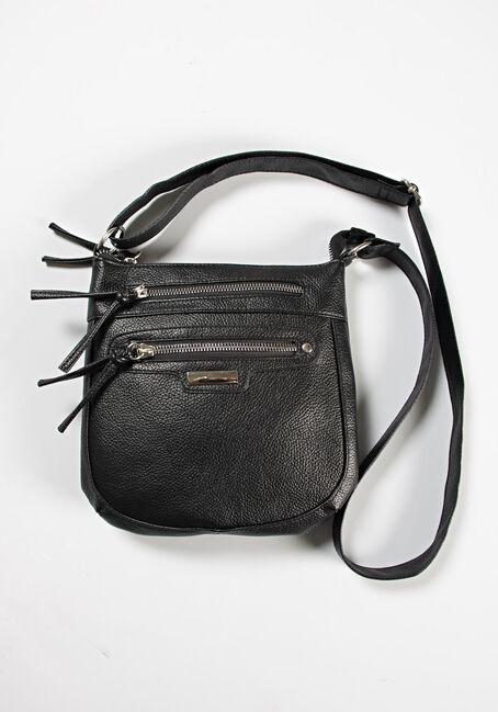 Women's Double Zipper Crossbody Bag