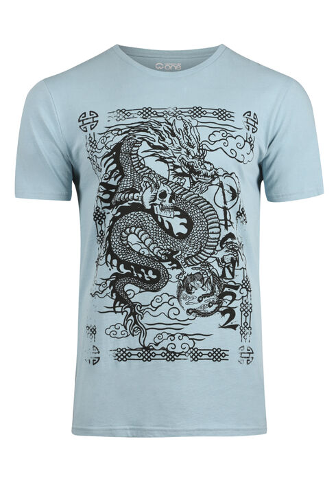 Men's Dragon Tee, SKY, hi-res