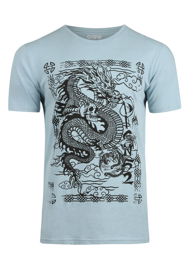 Men's Dragon Tee, SKY, hi-res
