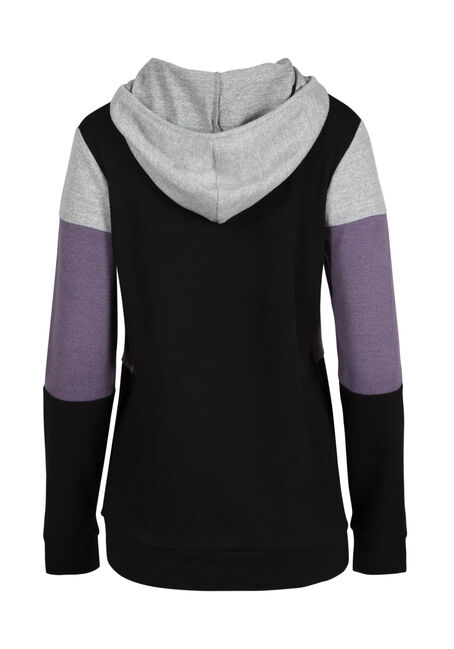 Ladies' Color Block Hoodie, DAHLIA, hi-res