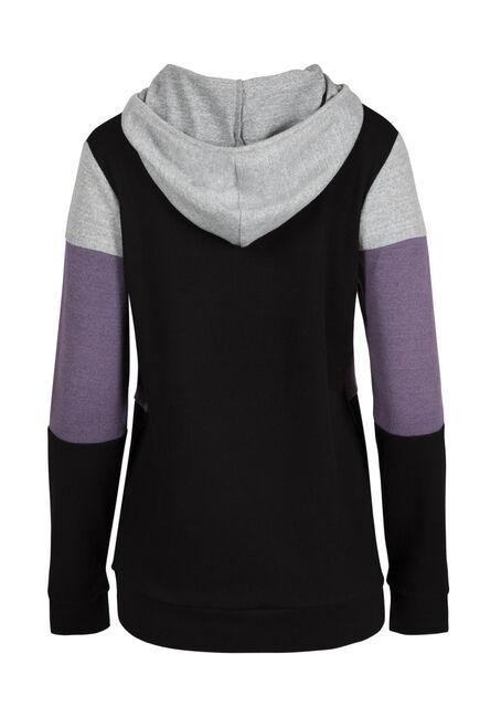 Women's Color Block Hoodie, DAHLIA, hi-res