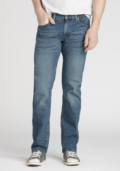 Men's Straight Leg Jeans, MEDIUM WASH, hi-res