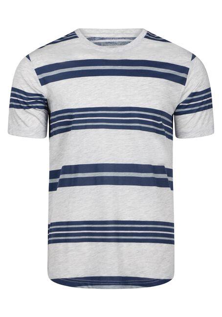 Men's Everday Striped Tee, BRIGHT COBALT, hi-res