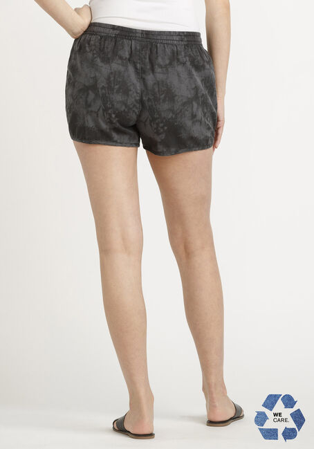 Women's Tie Dye Pull-on Short, CHARCOAL, hi-res
