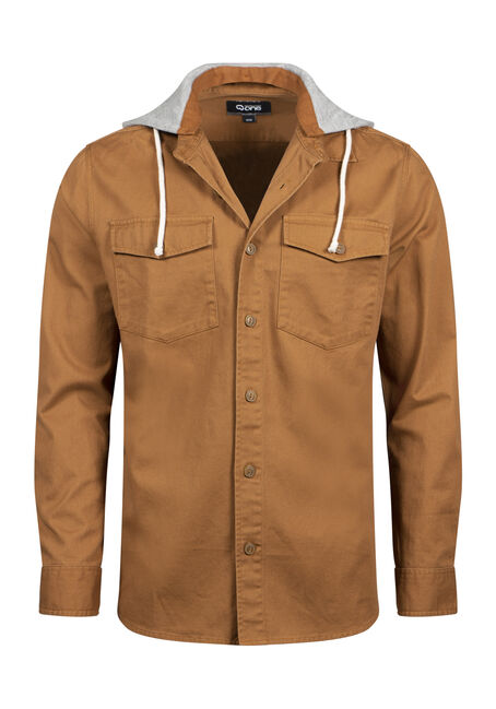 Men's Hooded Work Shirt