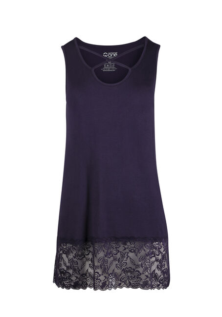 Ladies' Cage Neck Lace Tunic Tank