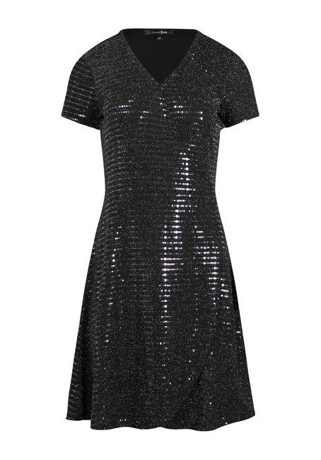 Women's Shimmer Wrap Dress