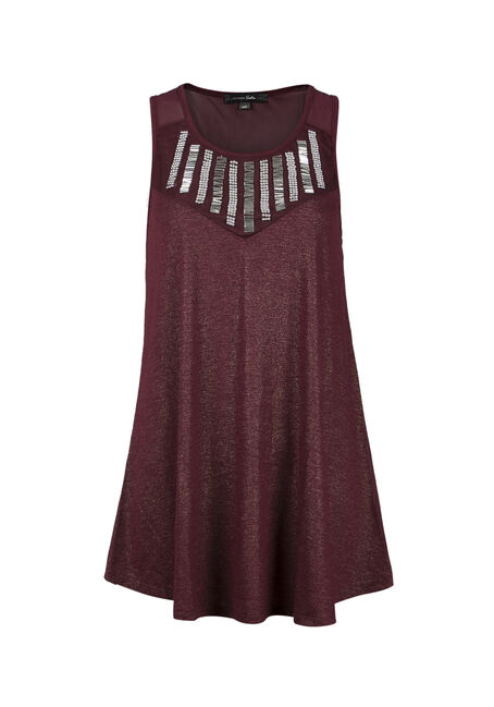 Ladies' Beaded Mesh Tank