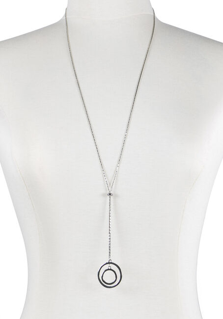 Ladies' Lariat Double O Necklace