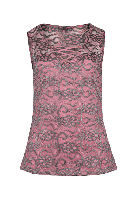 Ladies' Shimmer Lace Up Tank