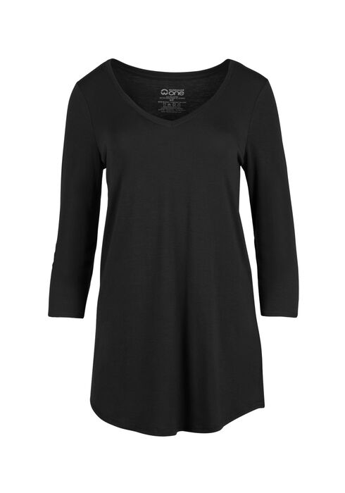 Ladies' Tunic Tee, BLACK, hi-res