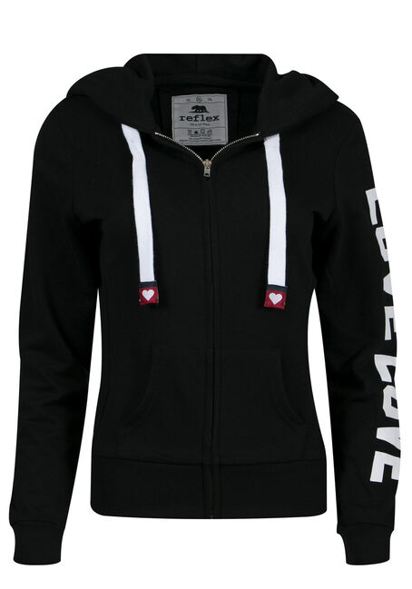 Ladies' PLus Size Love Zip Up Hoodie