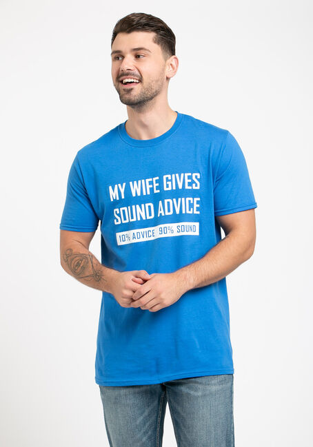 Men's My Wife Gives Sound Advice Tee