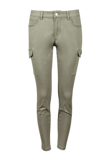Women's Cargo Skinny Pant, LIGHT OLIVE, hi-res