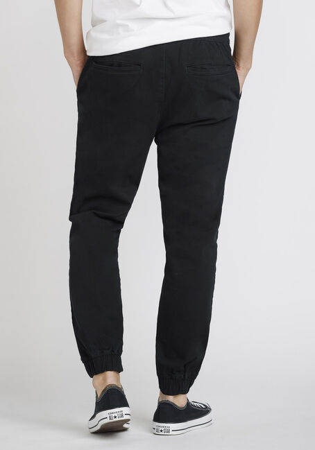 Men's Stretch Twill Jogger, BLACK, hi-res
