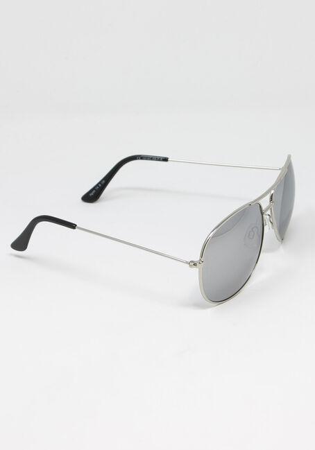 Men's Aviator With Mirror Lens, SILVER, hi-res