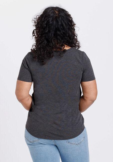 Women's TGIF Scoop Neck Tee, CHARCOAL, hi-res