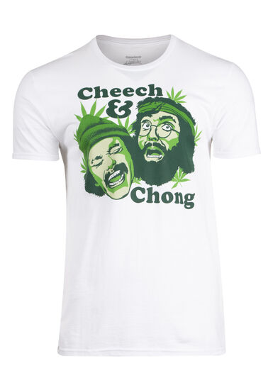 Men's Cheech & Chong Tee, WHITE, hi-res