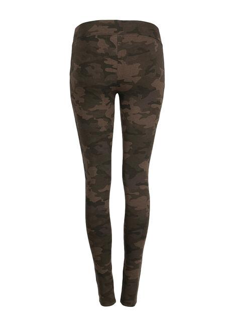 Ladies' Camo Print Legging, OLIVE, hi-res