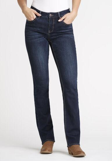 Women's Dark Baby Boot Jeans, DARK WASH, hi-res