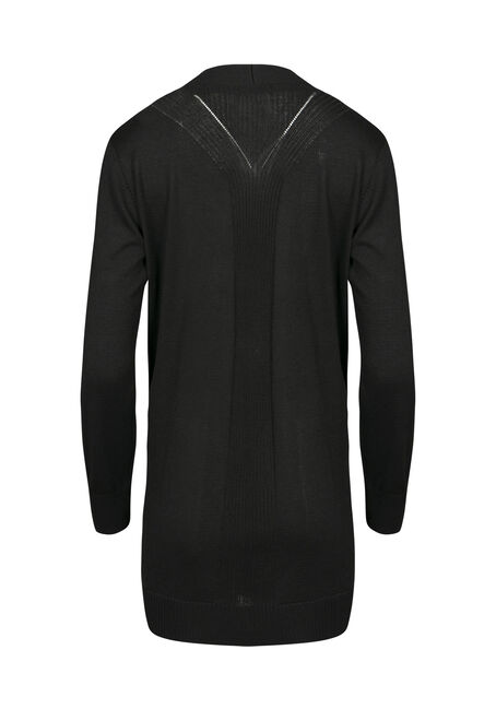 Women's  Open Cardigan, BLACK, hi-res