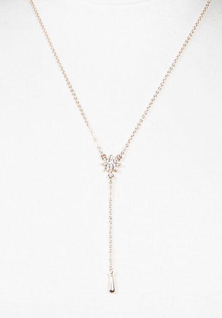 Women's Y Neck Necklace, ROSE GOLD, hi-res