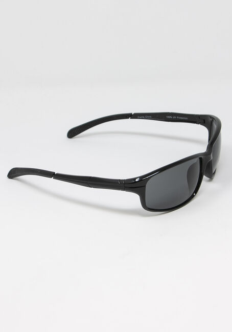 Men's Rectangle Frame Sunglasses, BLACK, hi-res