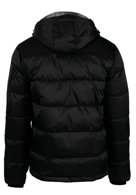 Men's Bomber Jacket, BLACK, hi-res