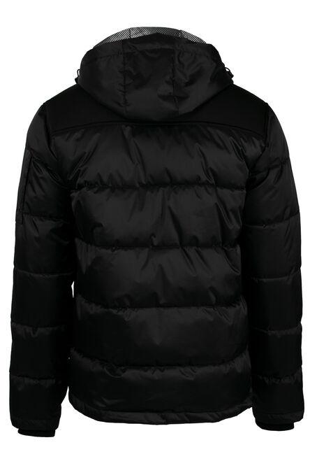 Men's Bomber Jacket, BLACK, hi-res