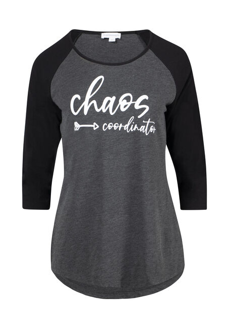 Women's Chaos Coordinator Baseball Tee