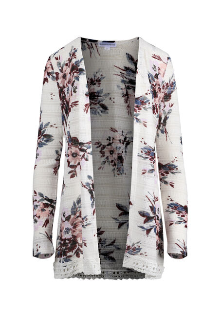 Women's Floral Print Cardigan