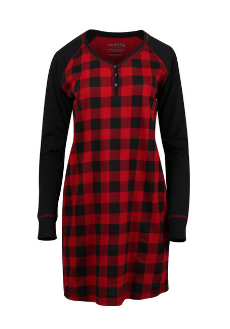 Ladies' Plaid Sleepshirt