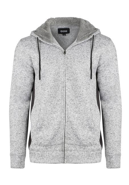 Men's Sweater Knit Zip Front Hoodie