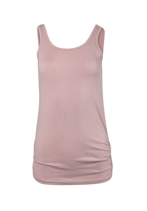 Ladies' Super Soft Ruched Side Tank, TICKLED PINK, hi-res
