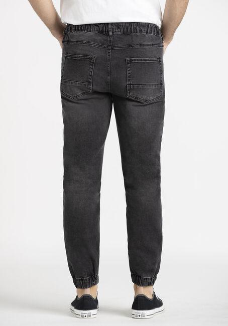 Men's Washed Black Denim Jogger, BLACK, hi-res