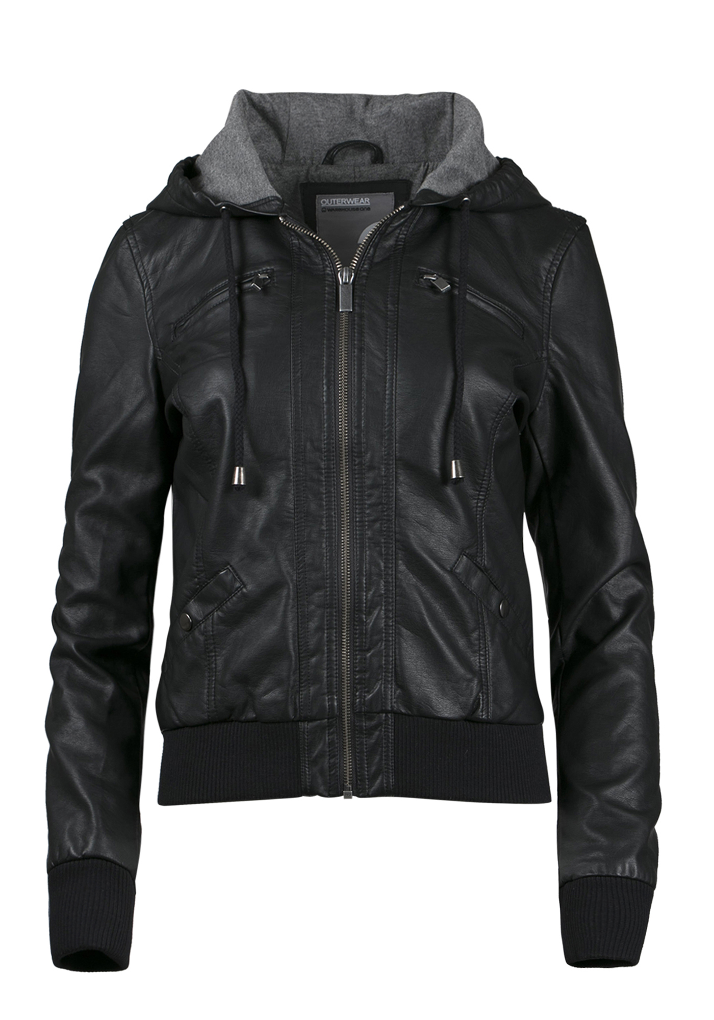 cb1891c6982 Ladies  Hooded Bomber Jacket