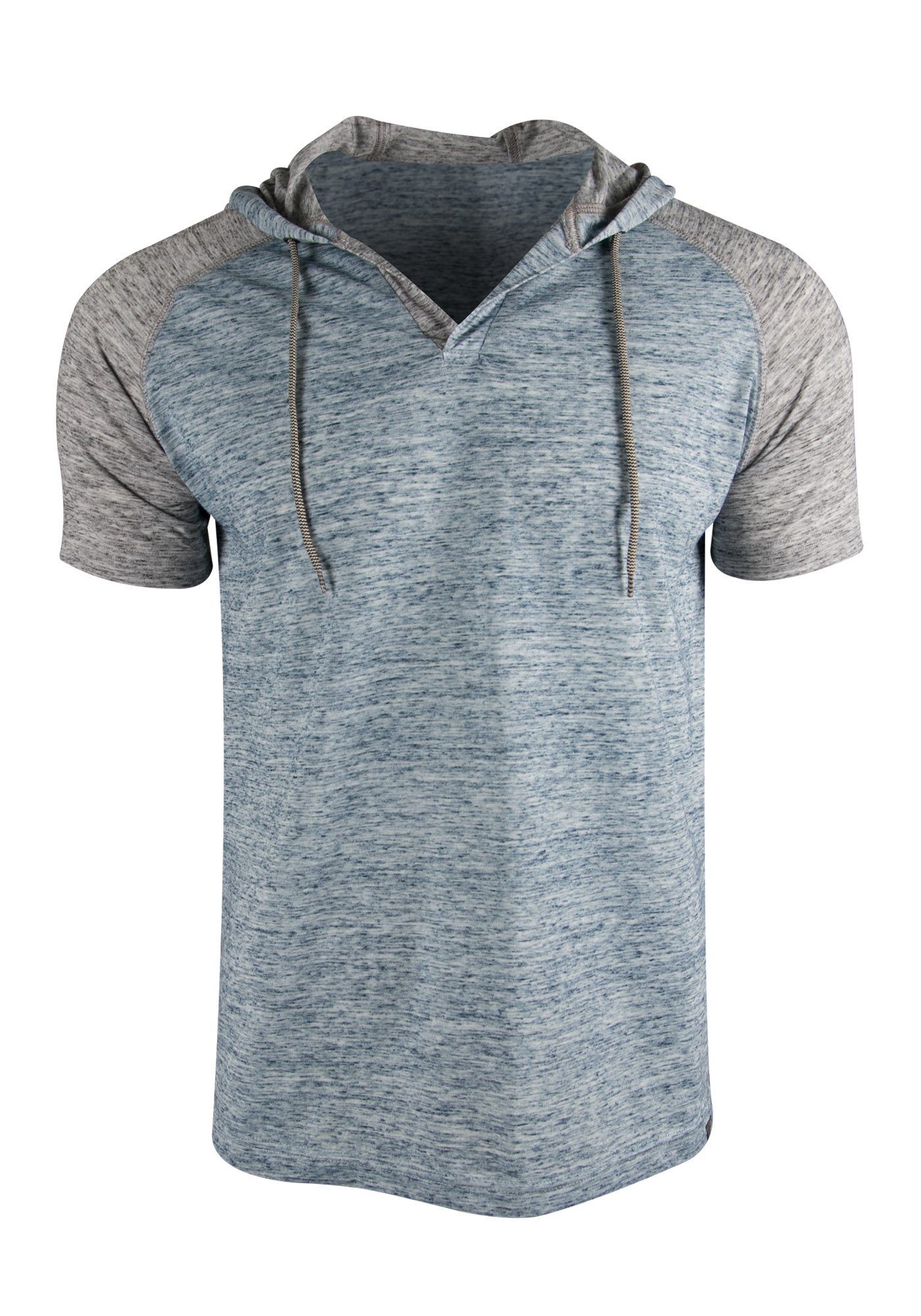 Men's Hooded Raglan Tee, BLUE, hi-res