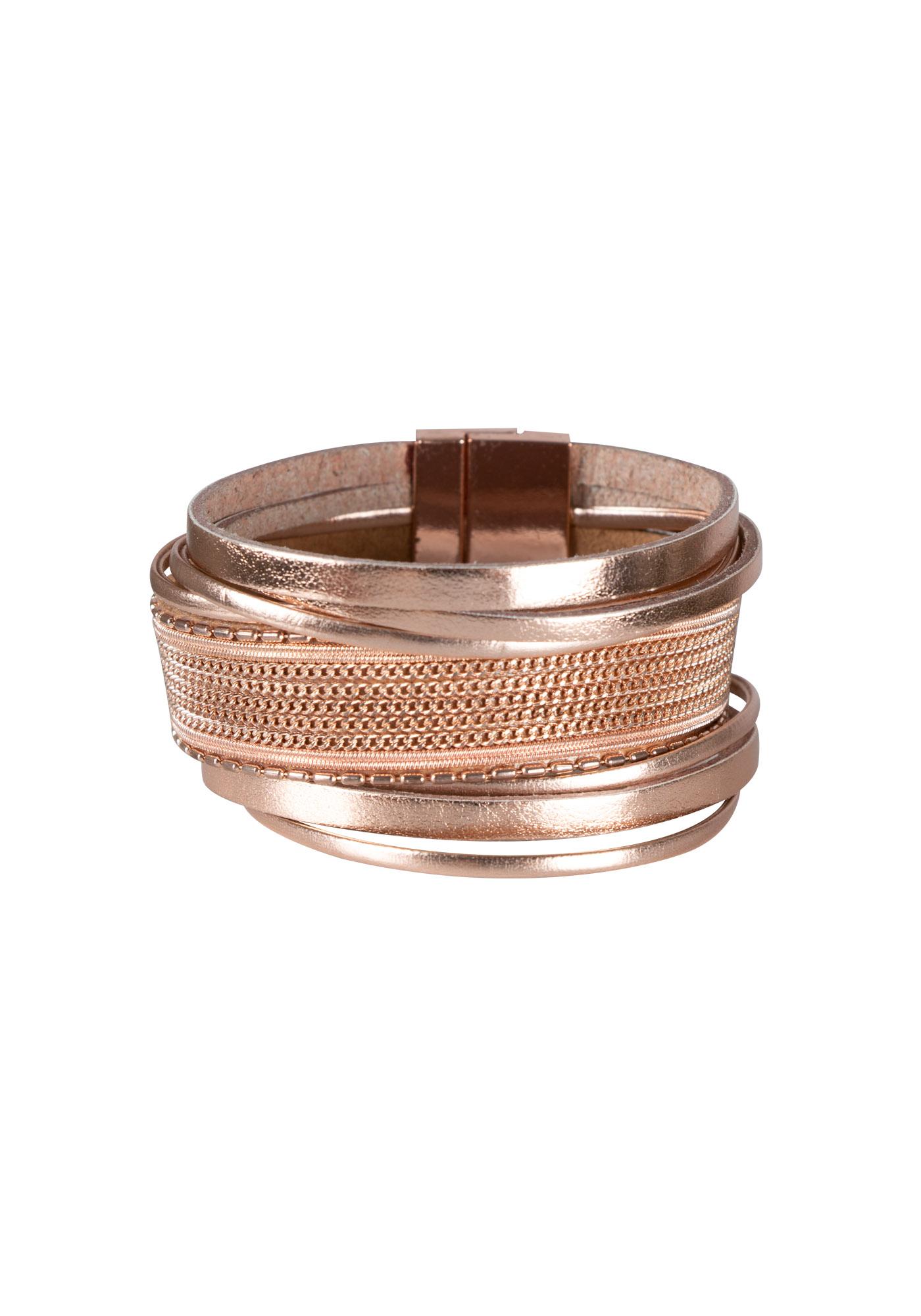 Las Magnetic Cuff Bracelet Rose Gold Hi Res