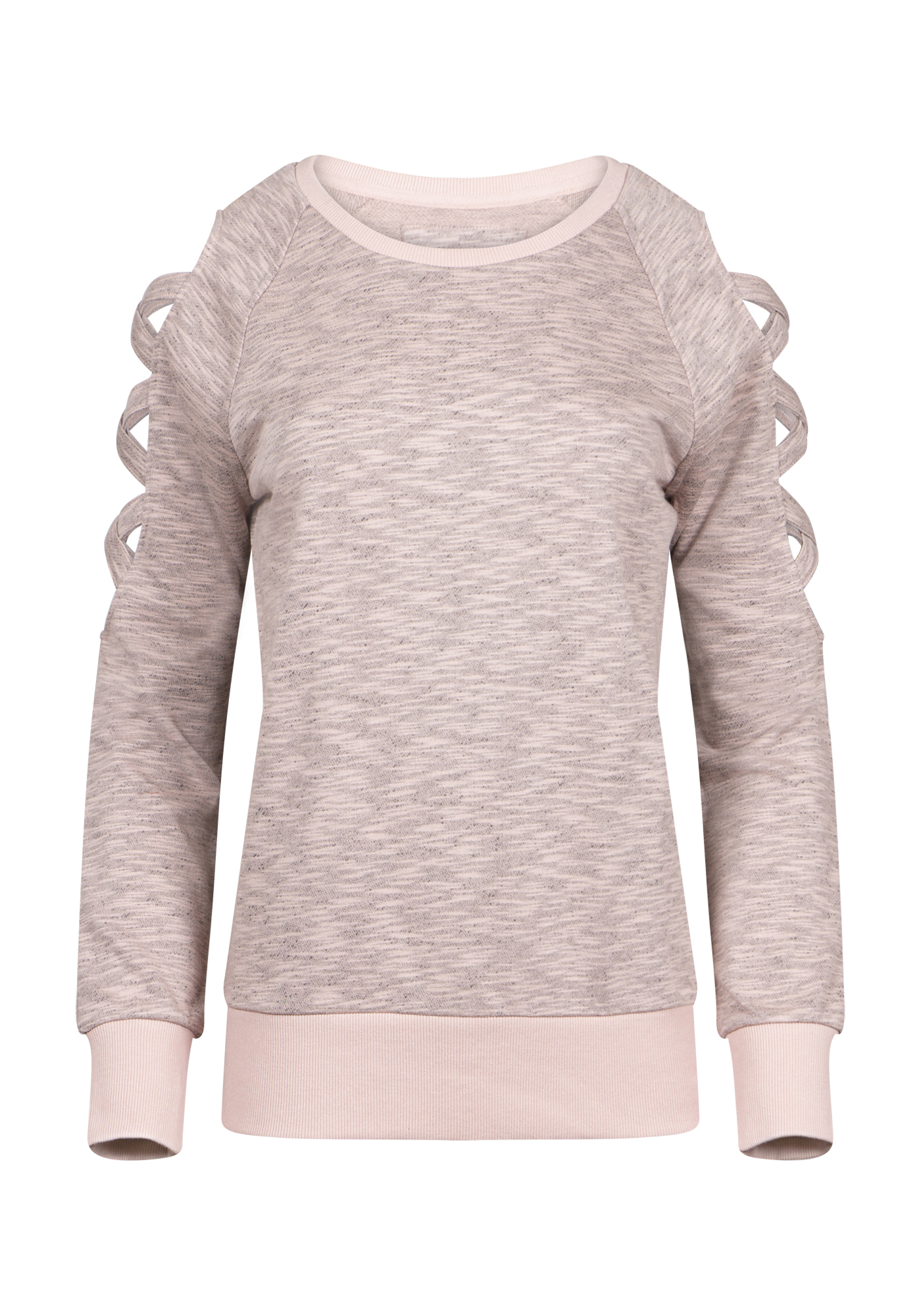 Women's Ladder Sleeve Fleece, DUSTY PINK, hi-res