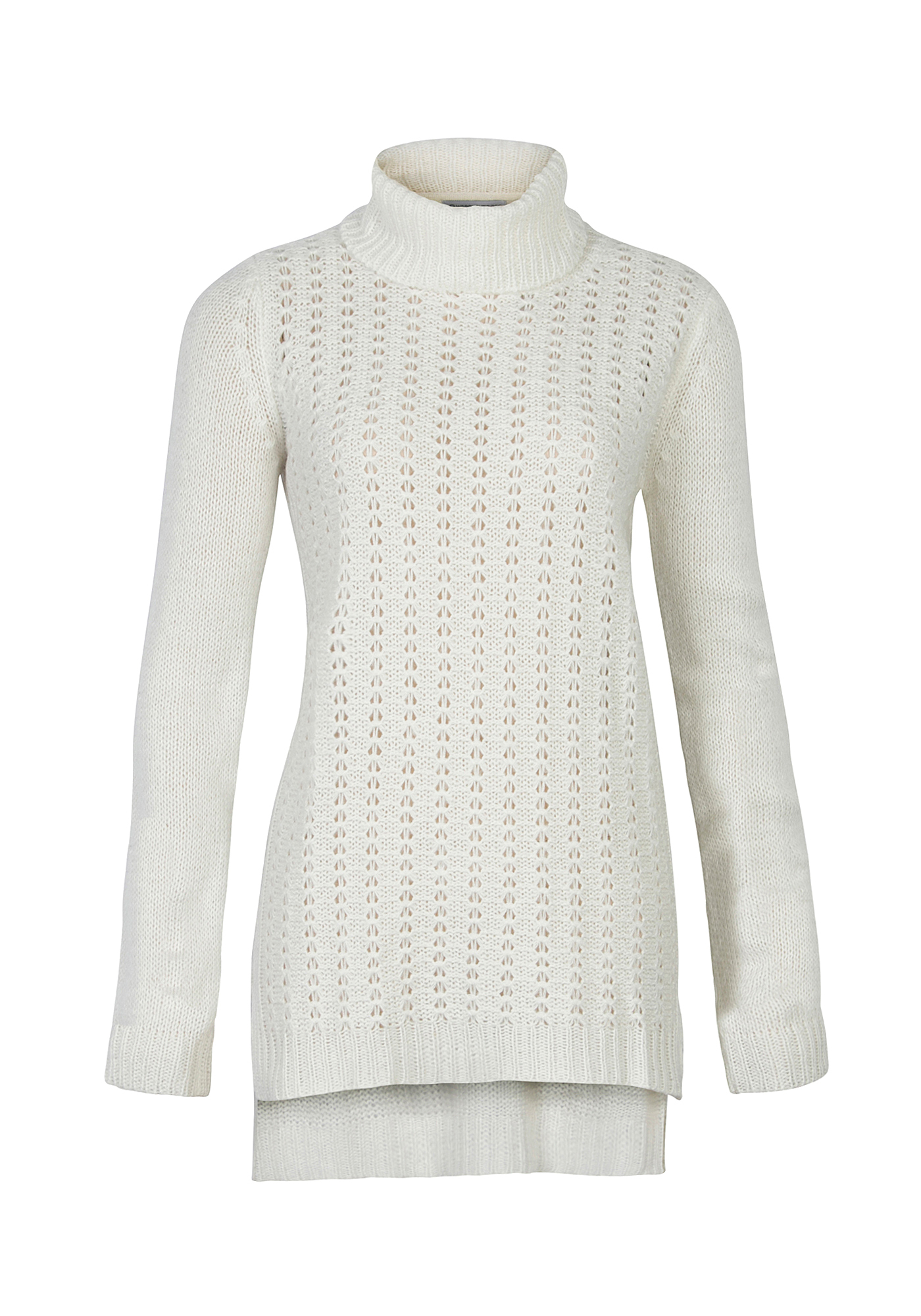 Ladies' Turtle Neck Pointelle Sweater