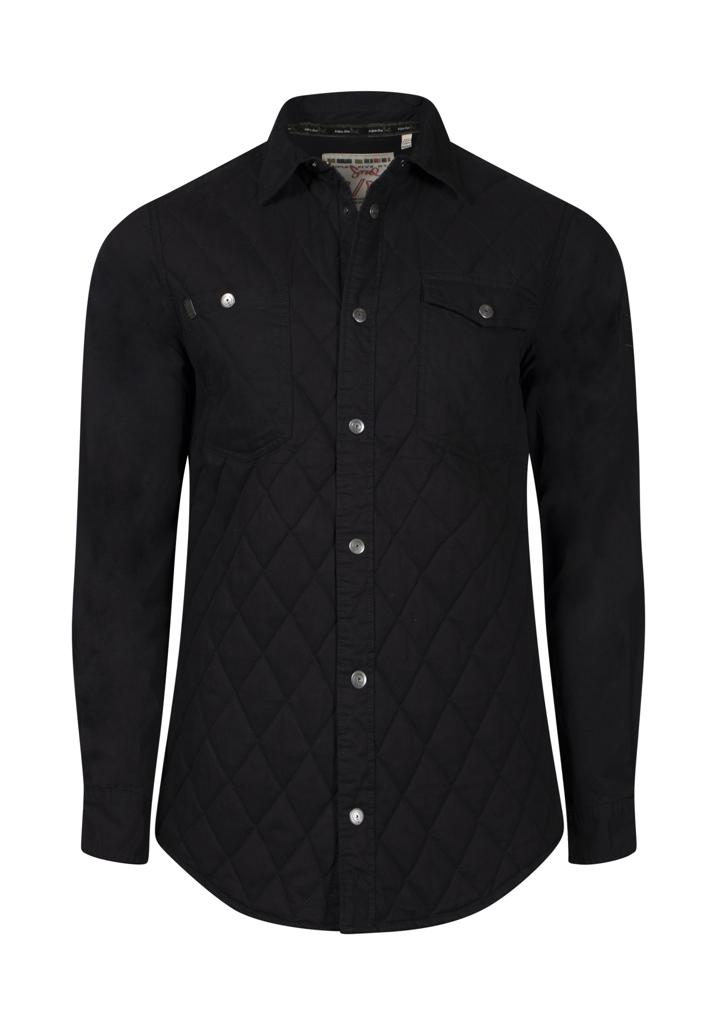 Men's Quilted Jacket, BLACK, hi-res