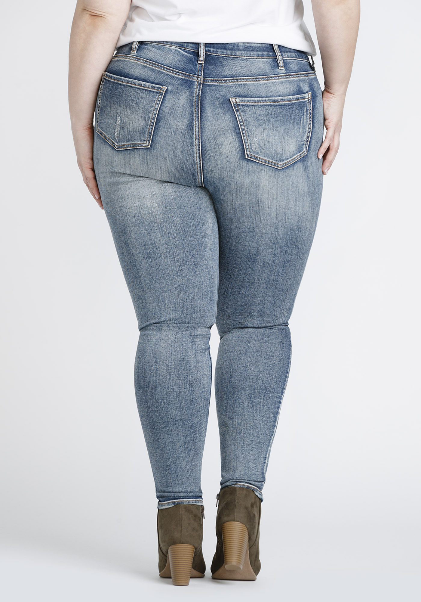 1d471a73389 ... Womens Plus Size Vintage Distressed Skinny Jeans