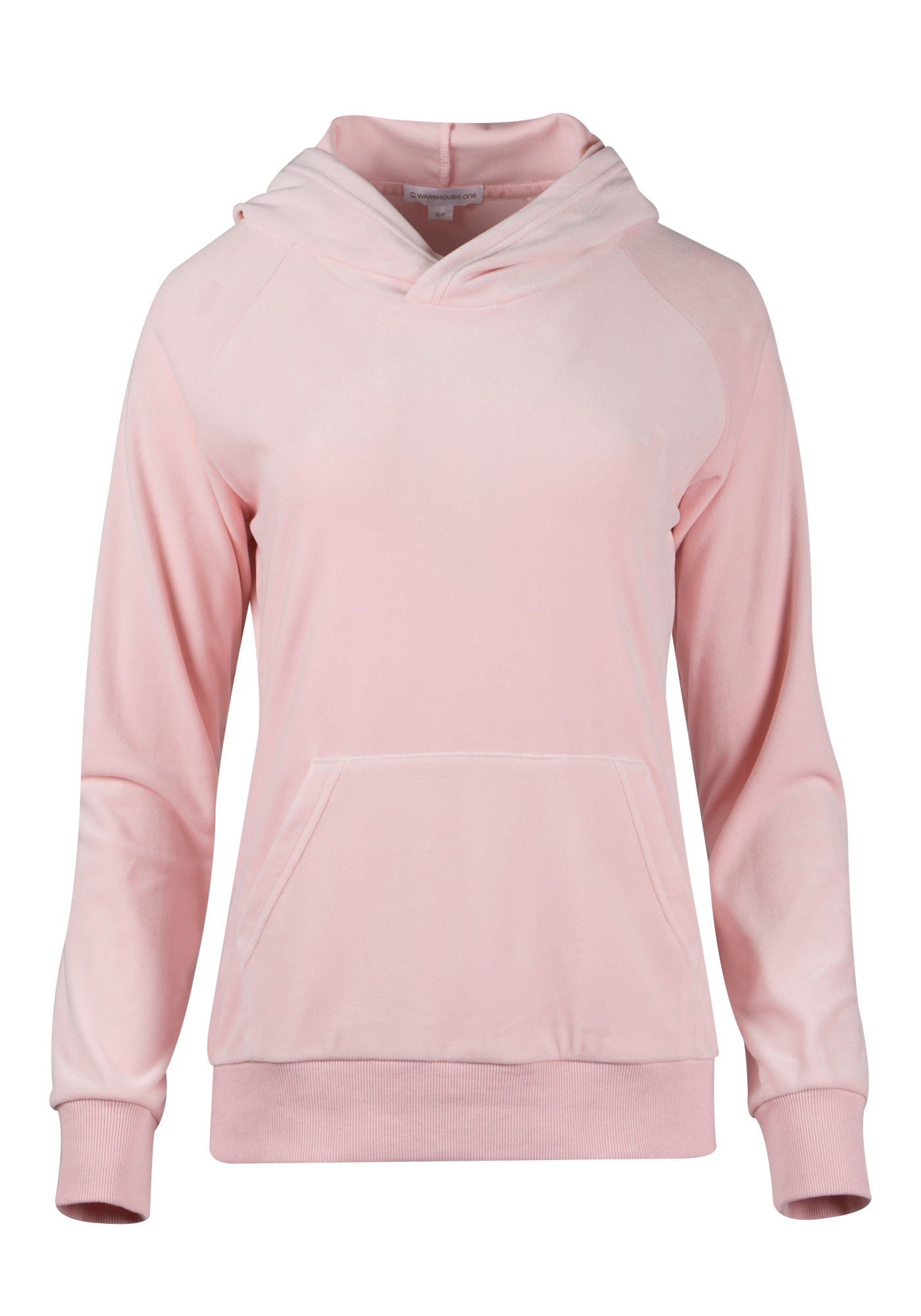 Ladies' Velour Popover, PINK, hi-res